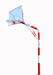 Basketball Pole Fixed, Size: 6 inch