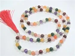 108 Bead Navgraha Astrology Jap Mala Zodiac Nine Planet Healing Stone Bead Necklace