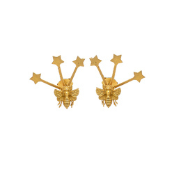 Star with Small Butterfly Combination Another Style Earstud Represent Indianna Jewellers