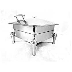 Grand Square 2/3 Lift Top Chafer with Drumstick Legs