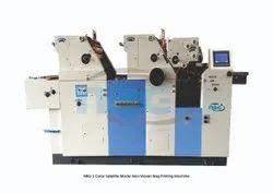 Multi Colour Satellite Model Non Woven Bag Printing Machine