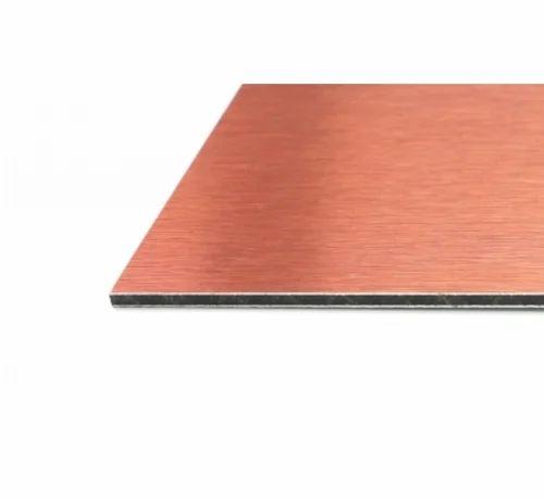Eurobond Red Metallic Finish Copper Bronze Aluminum Composite Panel, for Exterior / Interior