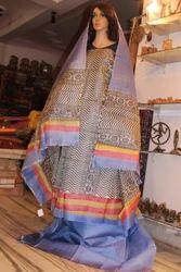 Pure Tussar Silk Handblock Printed Suit