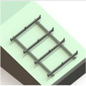 250-265 Wp Slope Roof Mount Module Mounting Structure