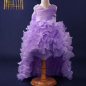 Princess Style High Low Party Dress-purple