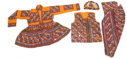 Indian Kutch Embroidered Man Kediya- 5 Piece Set