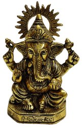 Gold Plated Metal Ganesha Statue for Return Gifts For Marriage