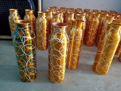 Round Copper Water Bottle, for Drinking Water, Capacity: 950 Ml