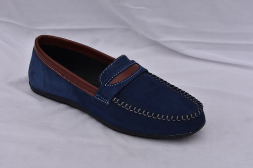 a0ffbc3066a0b Blue Color Loafer Leather Shoe For Men