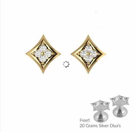 Sri Jagdamba Pearls Simple Diamond Earrings