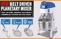 Stainless Steel Bakery Mixer, Capacity: 10 Ltrs