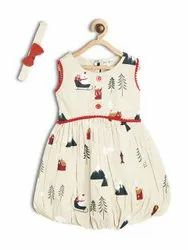 Bella Moda Dress Along With Hair Band 2 To 7 Years