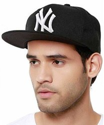 NY Hip Hop Black Cotton Cap