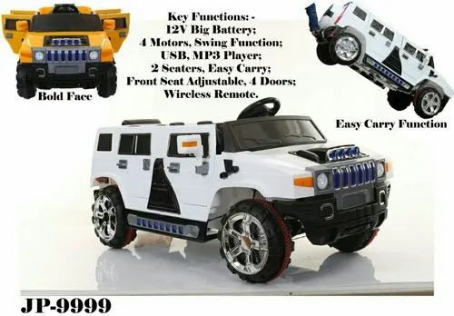Red Battery Operated Ride On Car Hummer Jeep For Kids Vehicle Model