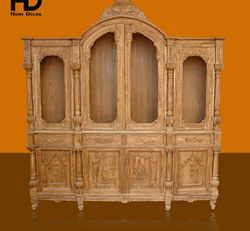 Home Decor Brown Wooden Almirah, Number Of Doors: 4