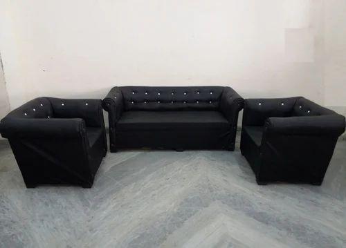 Lovely 5 Seater Black Sofa Set