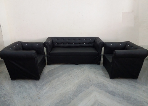 Superbe 5 Seater Black Sofa Set