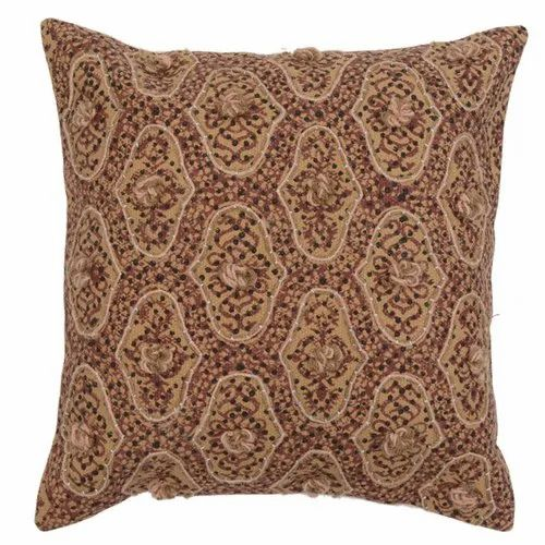 Embroidered Traditional Cotton Cushion Cover