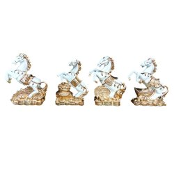 Set of 4 Horse Statue