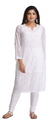 A90397 Hand Embroidered Regular Fit Casual Women's Kurta
