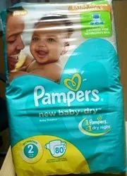 Disposable Plain Pampers Baby Diaper, Size: Small, Age Group: Newly Born