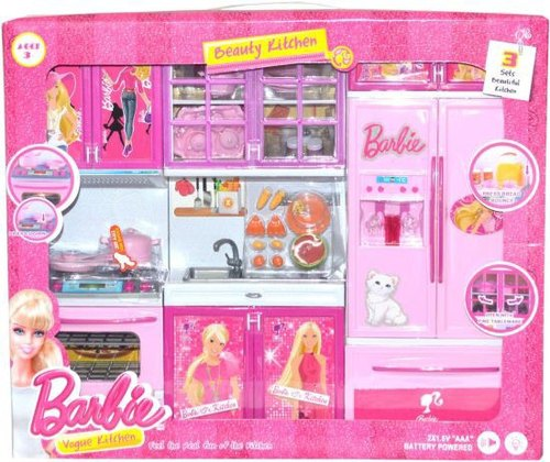 Pink Barbie Kitchen Set Toy Rs 630 Piece Jk International Id 20452295262