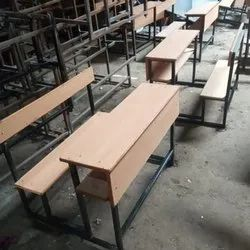 School Wooden Top Bench Set