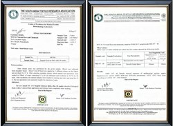 Sitra Testing Certificate