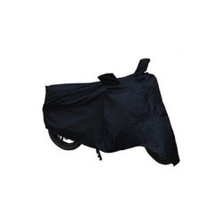 Black Polyester Motorcycle Cover