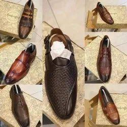 Leather Daily Wear Mens Footwear, Size: 6-10
