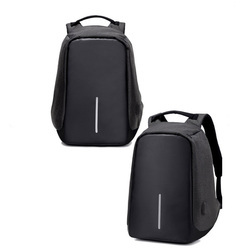 Alba Drop Black Anti Theft Backpacks With Your Logo