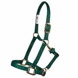 Green Nylon Horse Halter
