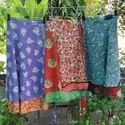 Reversible Gypsy Silk Sari Wrap Printed Long Skirt