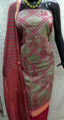 Chanderi Aari Work Ladies Suit