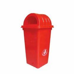 Red Plastic Waste Bin, For Garden, Capacity: 40 Liter