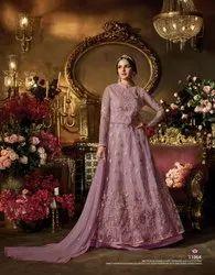 Indian Ethnic Designer Heavy Embroidered Bridal Wear Anarkali Suit, Adult