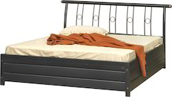 Black Storage Double Bed, Dimension: 1954 x 1564 mm
