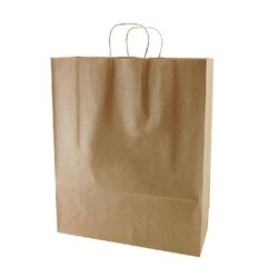 Plain Brown Kraft Paper Shopping Bag, Capacity: 5kg