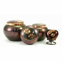 Odyssey Raku Brass Pet Urns