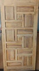 Zig Zag Design teak Door