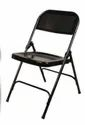 Foldable Black Metal Folding Chair Or Folding Chair, Metal Chair, For Event