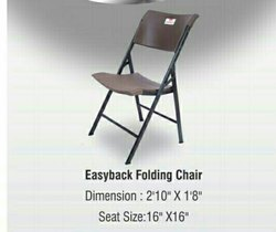 Black,Brown Metal Easyback Folding Chair