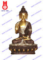 Lord Buddha Sitting With History Blessing Hand Statue