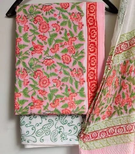 Cotton Suit Material With Mulmul Dupatta