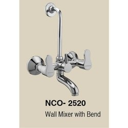 NCashyap Silver Wall Mixer With Bend, Packaging Type: Box, for Home.Hotels