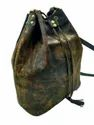 Unisex Vintage Brown Buffalo Leather Large Hobo Bag, Pure Leather(y/n): Yes