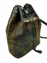 Buffalo Leather Large Hobo Bag