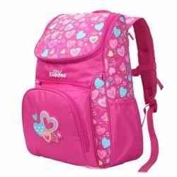 Polyester Smily U Shape College Backpack Pink, Bag Capacity: 22 Litre