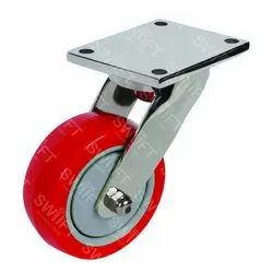Plate Mounted Swivel Caster Wheel