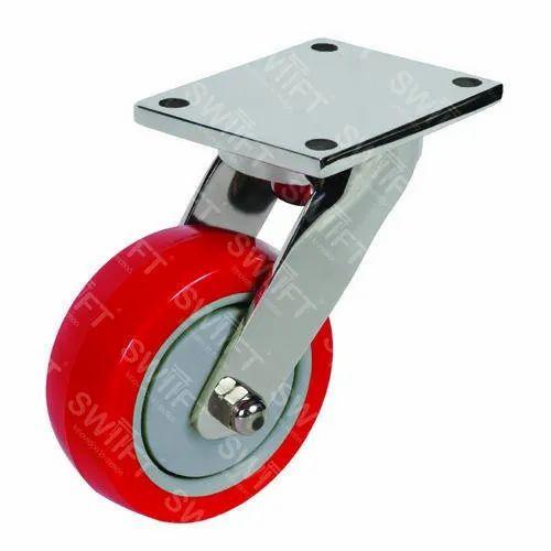 Plate Mounted Swivel Caster Wheel